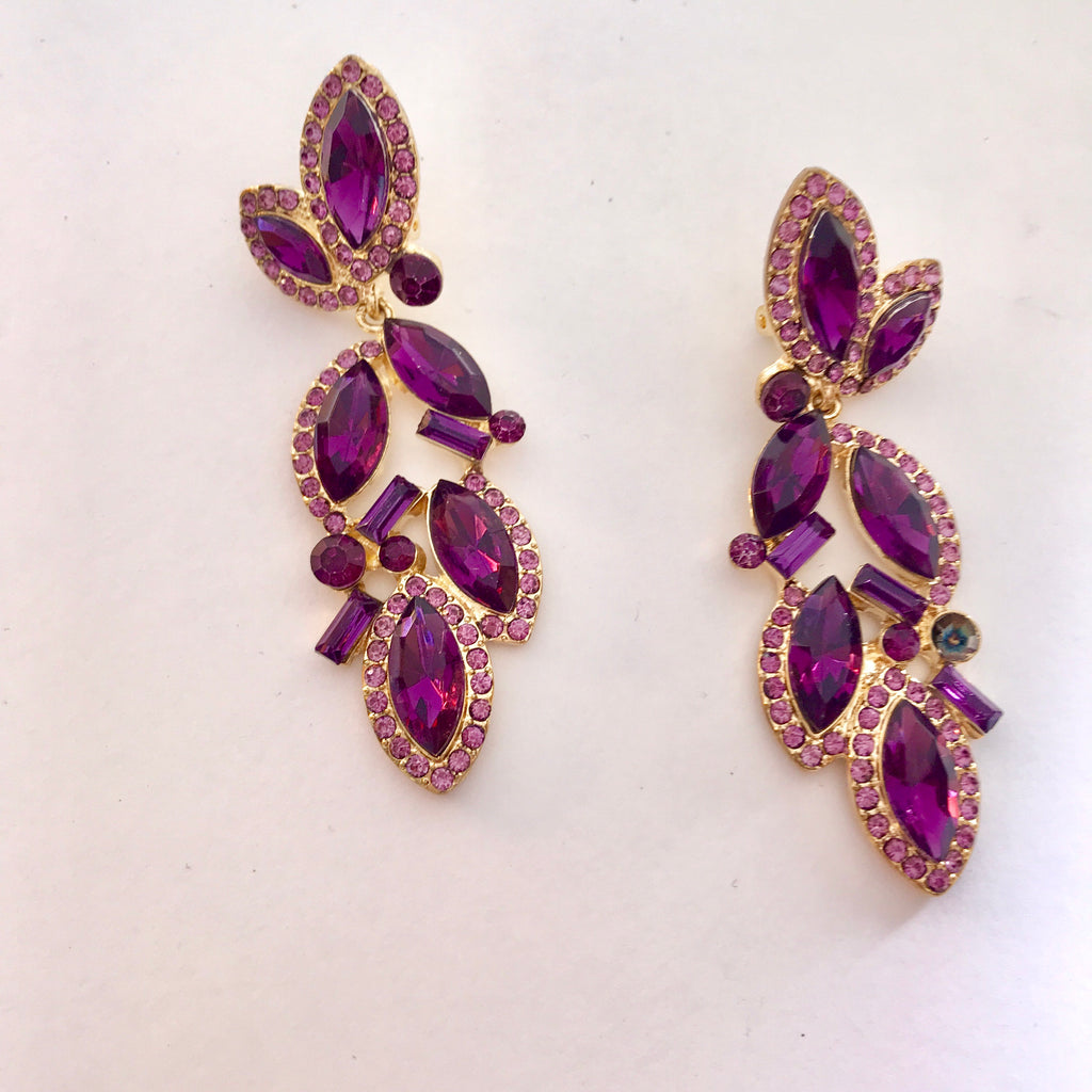 Clip-On Amethyst Dream Earrings
