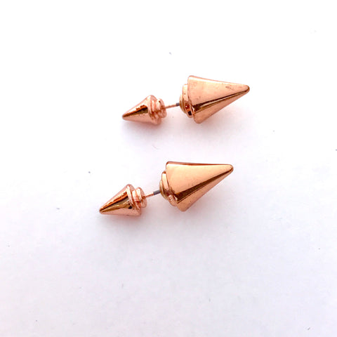 Rose Gold Double Sided Earrings