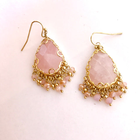 Baby Pink Stone Earrings
