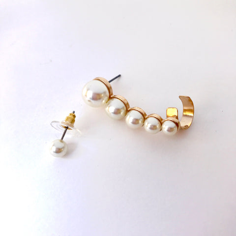 Pearl Ear Crawler and Pearl Stud