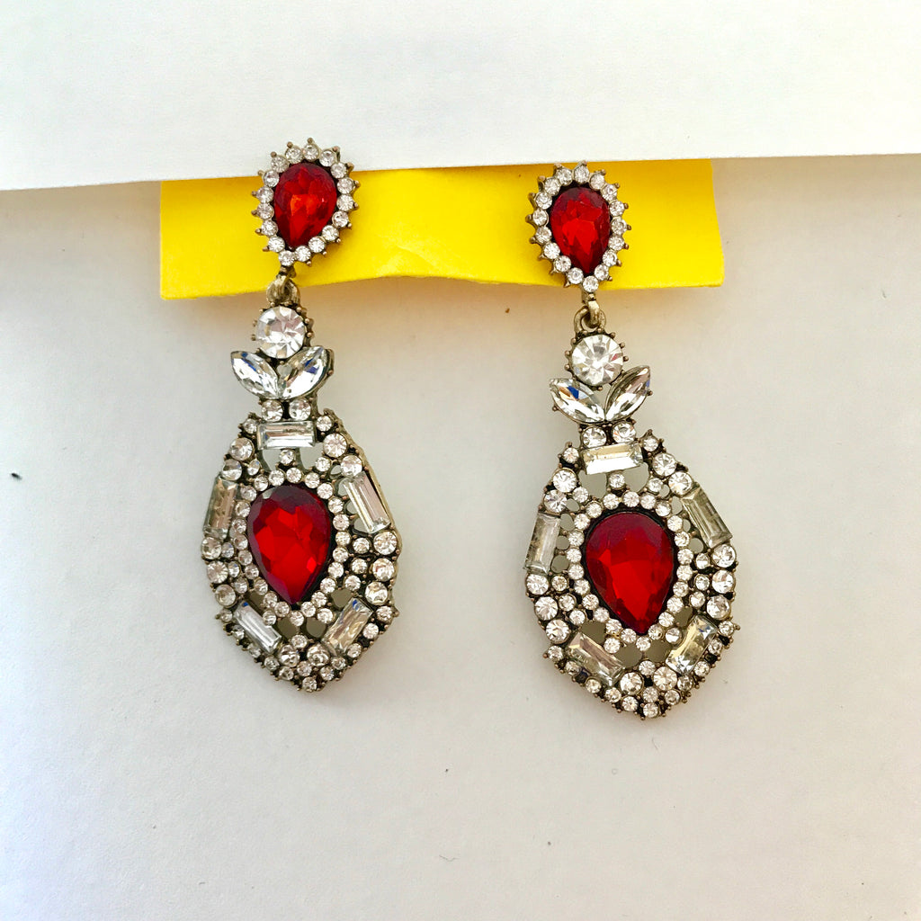 Brilliance Ruby Earrings 👑🌹