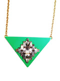 Triangle Jewel Turquoise Necklace - My Jewel Candy - 1
