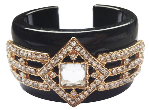 Clear Bejeweled Princess Cuff Bracelet - My Jewel Candy
