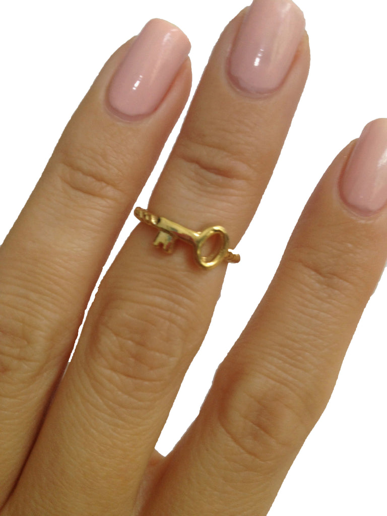 Gold Key Knuckle Ring - My Jewel Candy - 1