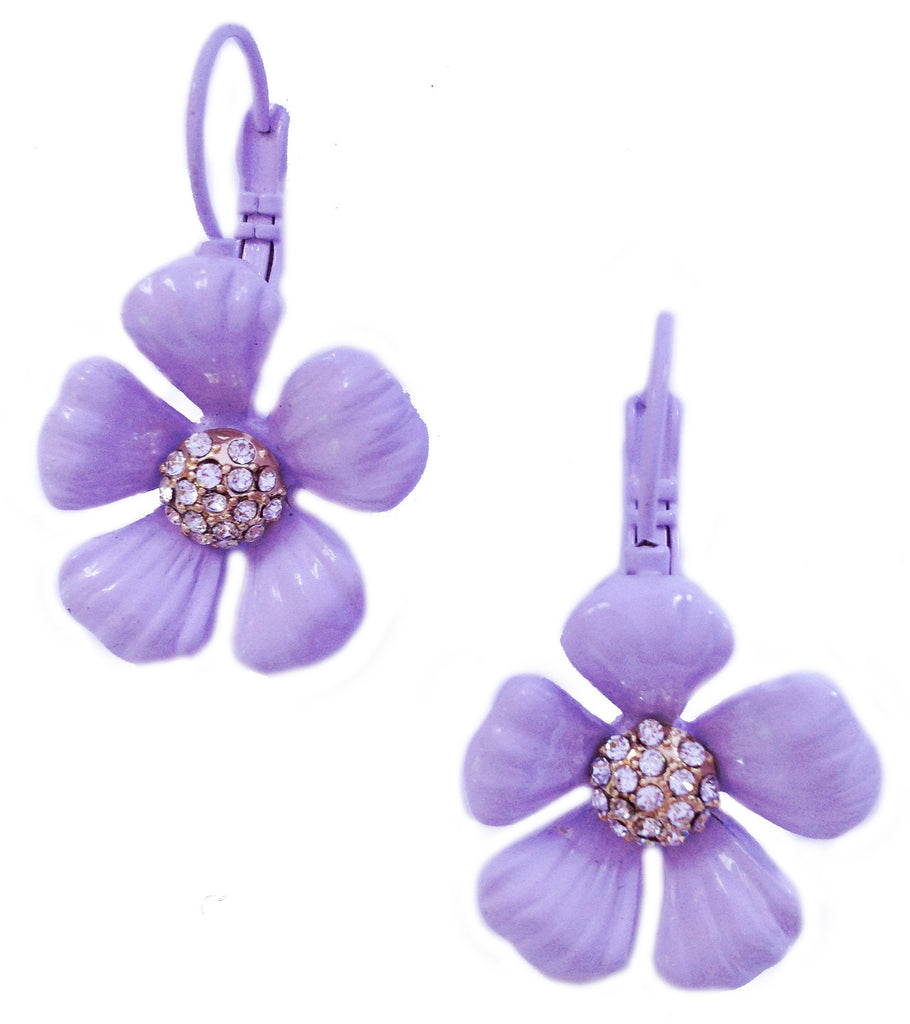 Lavender Flower Earrings - My Jewel Candy