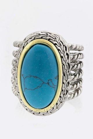 Oval Stone Ring - My Jewel Candy - 1