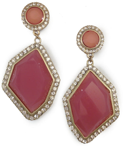 Pink Crystal Earrings - My Jewel Candy