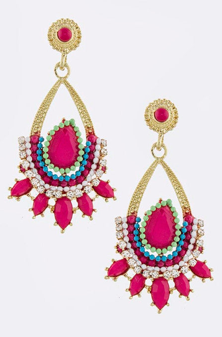 Hot Pink Nirvana Earrings - My Jewel Candy