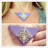Triangle Jewel Lavender Necklace - My Jewel Candy - 2