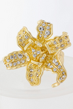 Crystal Encrusted Double Flower Ring - My Jewel Candy - 3