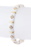 Silver Diamond Shaped Crystals Bracelet - My Jewel Candy - 3