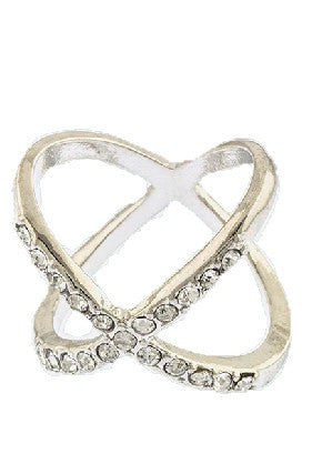X Ring (Silver) - My Jewel Candy - 1