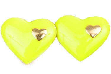Love in Love Yellow Stud Earrings - My Jewel Candy