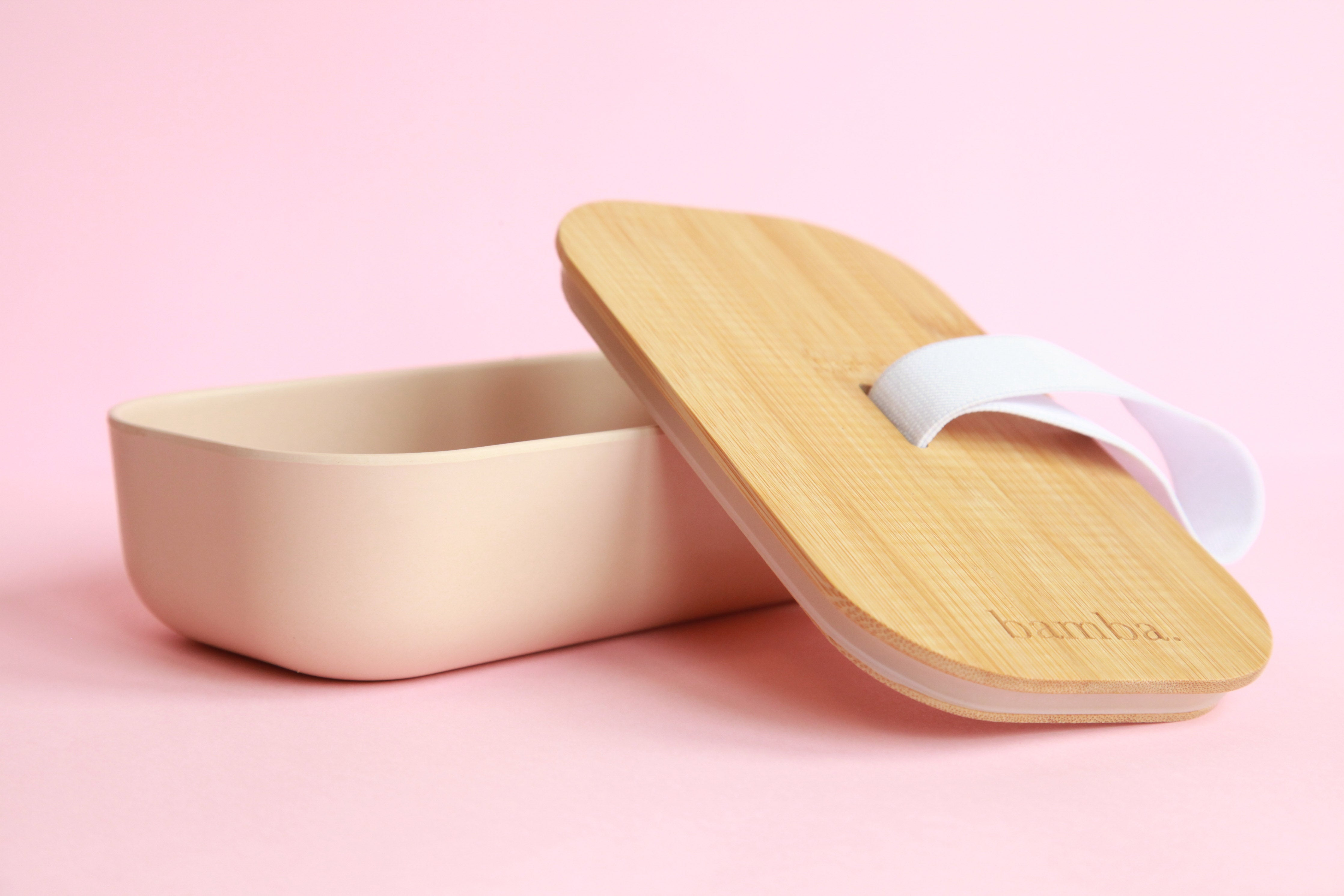 Bamboo Lunchbox - Powder Pink