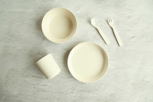 Bamboo Kids Dinner Set - Ivory