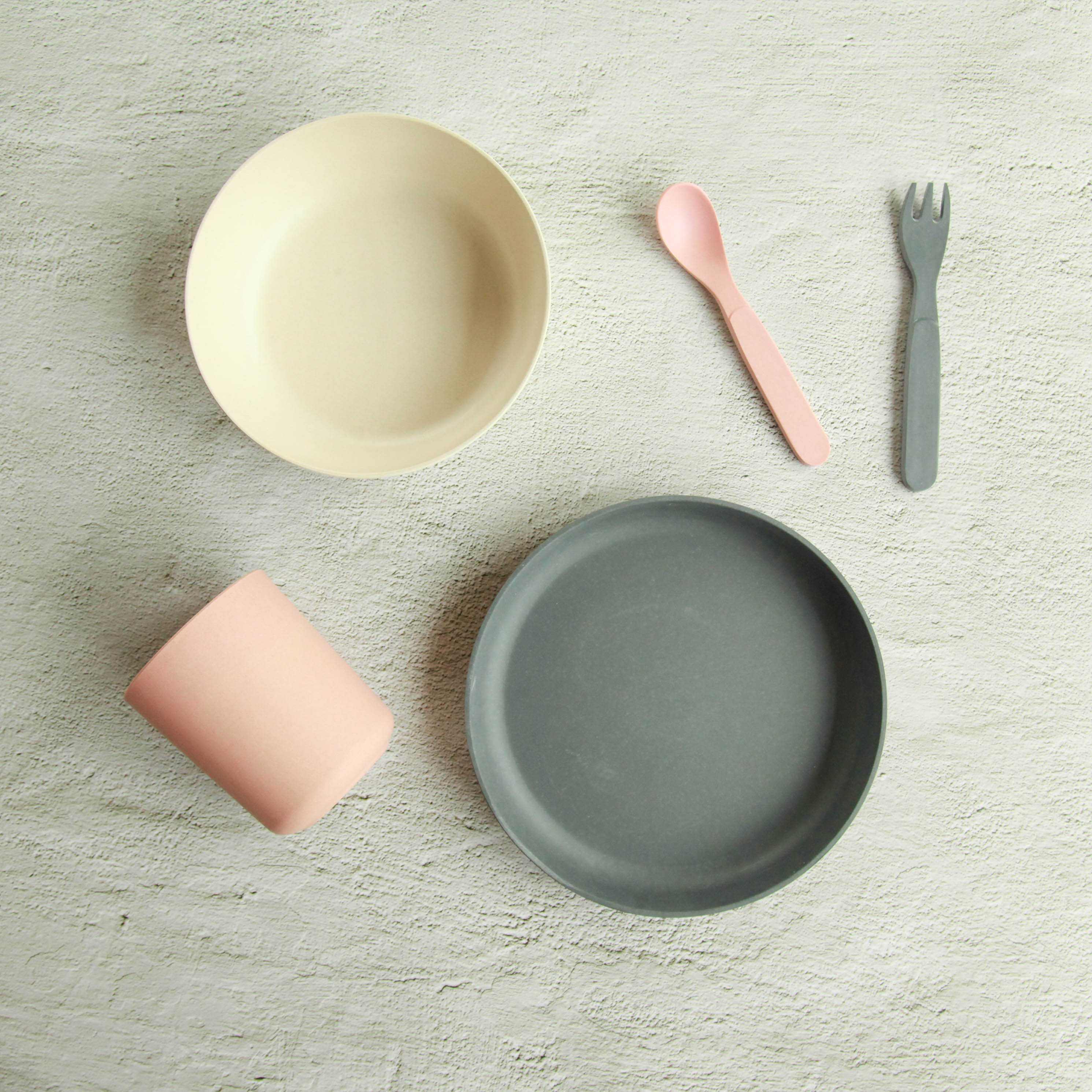 Bamboo Kids Dinner Set - Charcoal