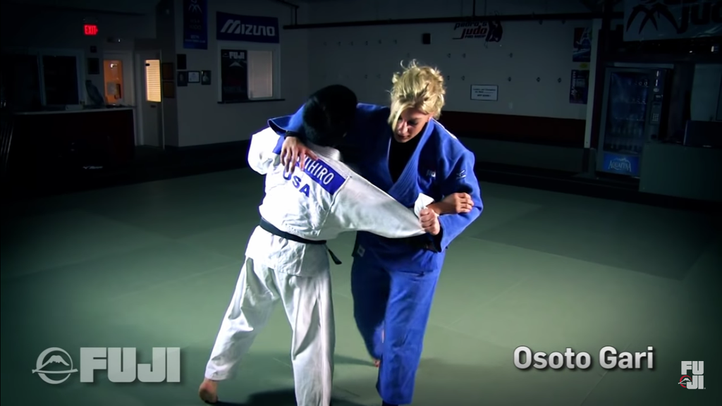 Osoto Gari With Kayla Harrison