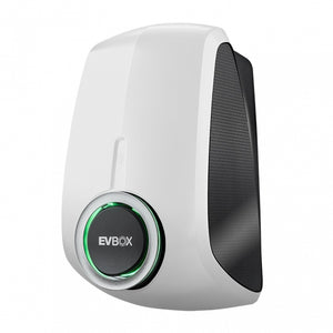 EVBox Elvi 18' Level 2 7.2 kW Charging Station (White) + Cable Holder