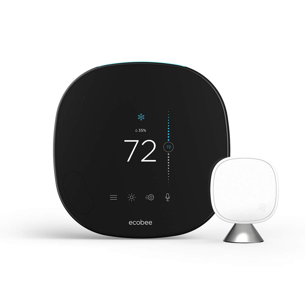 ecobee SmartThermostat with Voice Control, Black
