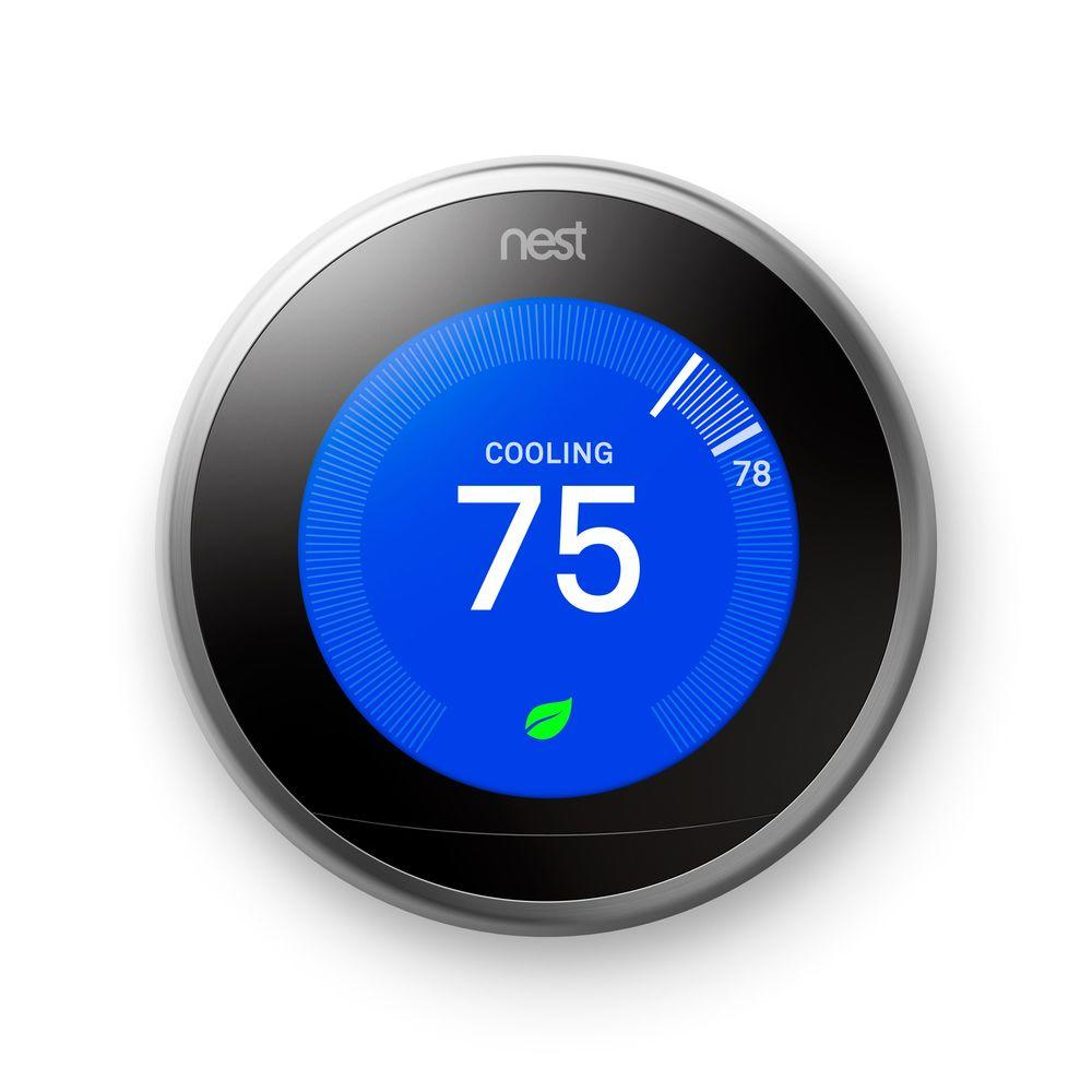 Nest Learning Thermostat 3rd Gen in Stainless Steel