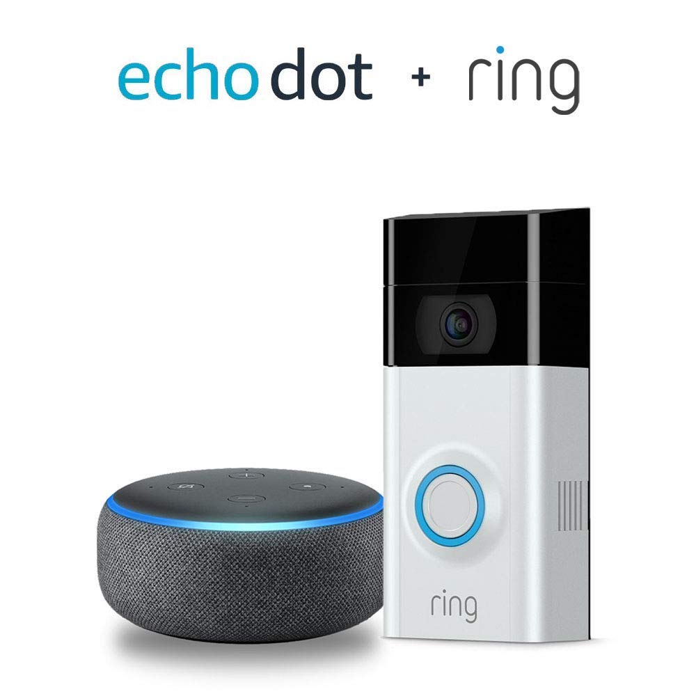 Ring Video Doorbell 2 with Echo Dot (3rd Gen) - Charcoal