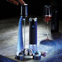 Load image into Gallery viewer, Electric Blue Pro All-In-One Automatic Wine Opener, Preserver & Electric Aerator 6-Piece Set