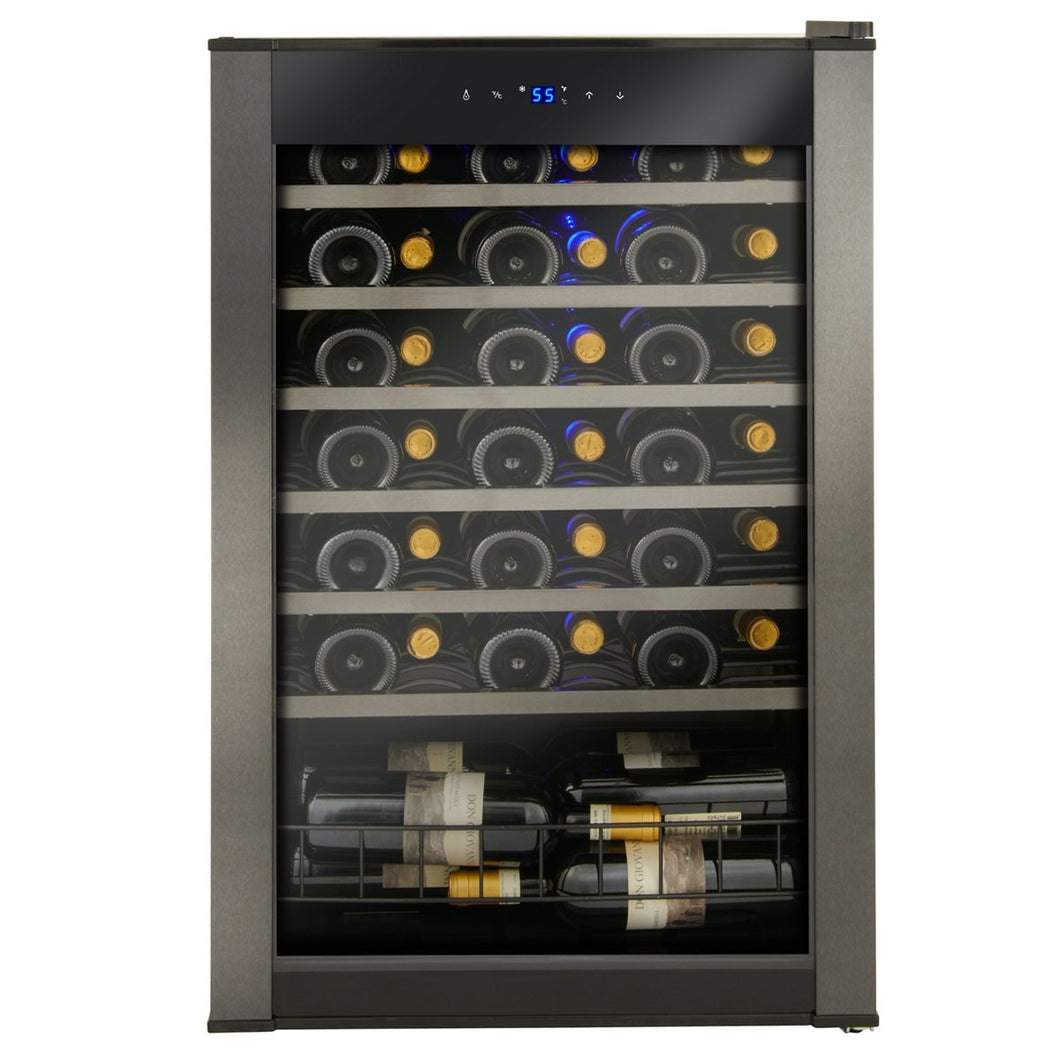 48-Bottle Evolution Series Wine Refrigerator Black Stainless Door