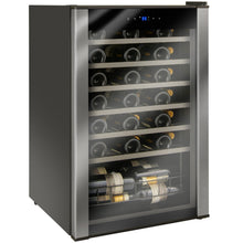 Load image into Gallery viewer, 48-Bottle Evolution Series Wine Refrigerator Black Stainless Door