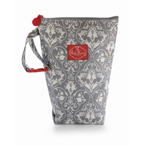 2 Red Hens Diaper Pack - Gray Damask