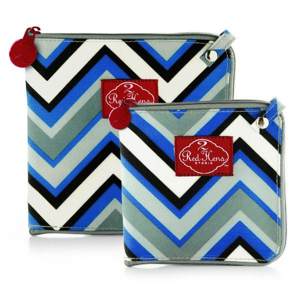 2 Red Hens Snack Bags Chevron Stripes