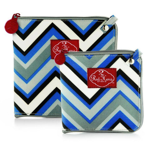2 Red Hens Snack Bags - Chevron Stripes