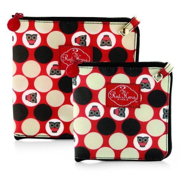 2 Red Hens Snack Bags Owl Dots