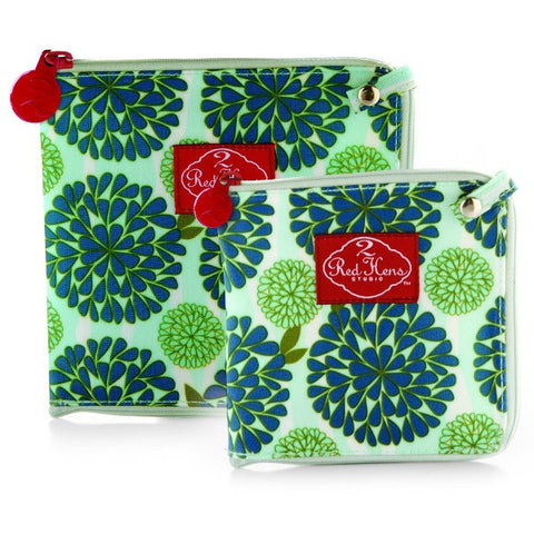 2 Red Hens Snack Bags - Peacock Mum