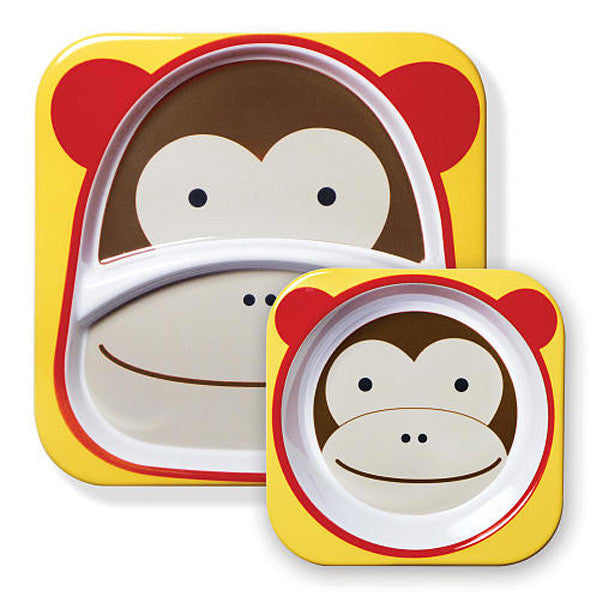 Skip Hop Zoo Tabletop Melamine Set Monkey
