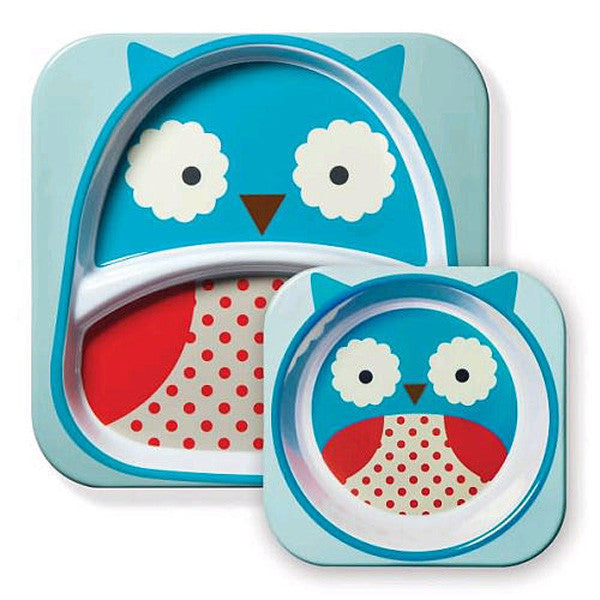 Skip Hop Zoo Tabletop Melamine Set Owl