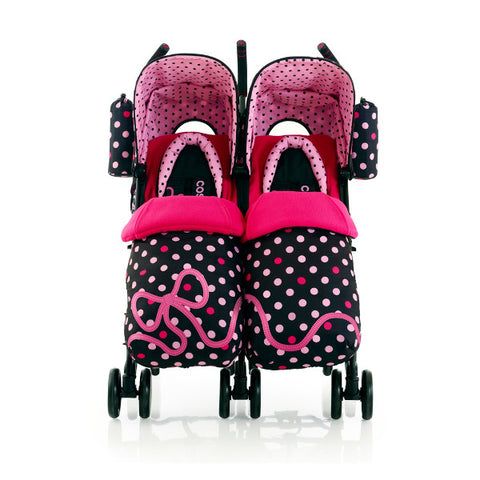 Cosatto Supa Dupa Twin Pushchair Bow How