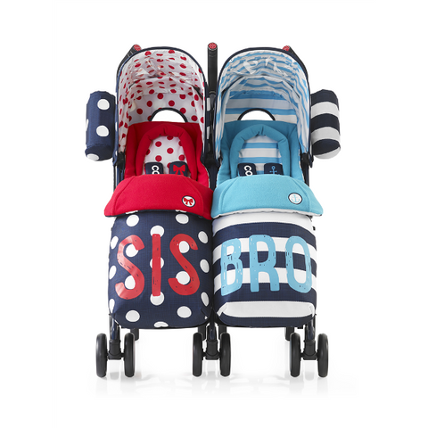 Cosatto Supa Dupa Twin Pushchair Sis & Bro 4