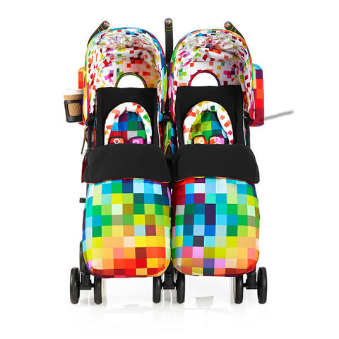 Cosatto Supa Dupa Twin Pushchair Pixelate