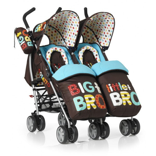 Cosatto You 2 Twin Pushchair Big Bro Little Bro