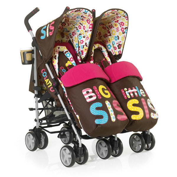 Cosatto You 2 Twin Pushchair Big Sis Little Sis with Cosy Toes