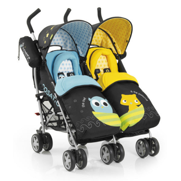 Cosatto You 2 Twin Pushchair Owl & Pussycat