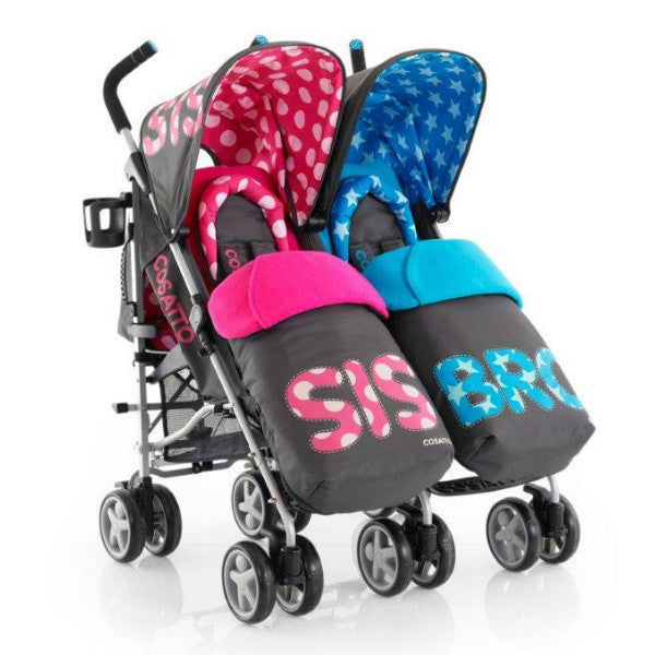 Cosatto You 2 Twin Pushchair Sis & Bro Too