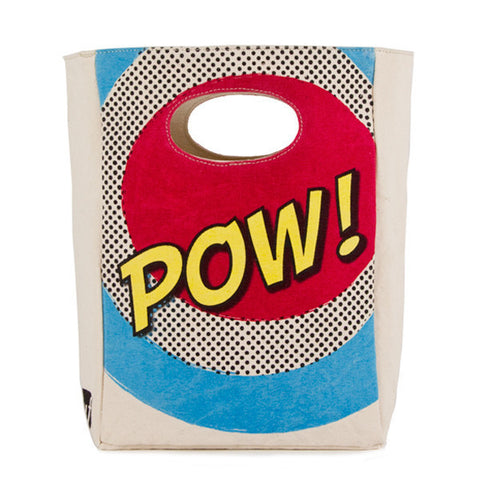 fluf Organic Cotton Lunch Bag - POW!