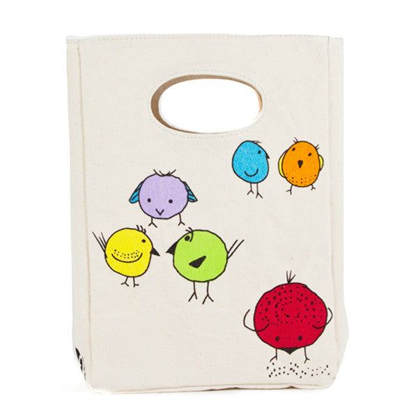 fluf Organic Cotton Lunch Bag Chirp!