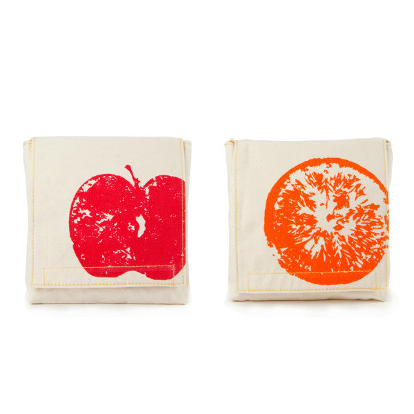 fluf Organic Cotton Snack Pack Set Apple&Orange