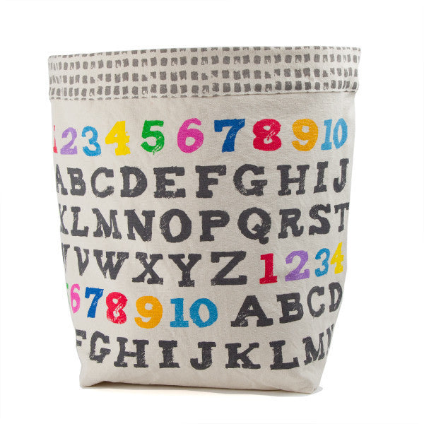 fluf Organic Cotton Floor Bin A to Z