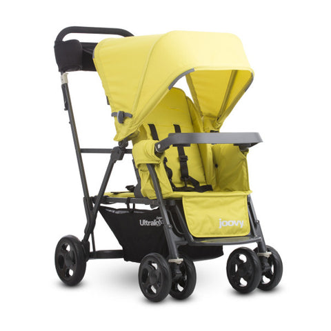 2016 Joovy Caboose Ultralight Graphite Stand-On Tandem Stroller - Citron