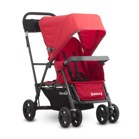 2016 Joovy Caboose Ultralight Graphite Stand-On Tandem Stroller - Red