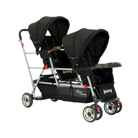 Joovy Black Big Caboose Stand-On Triple Stroller