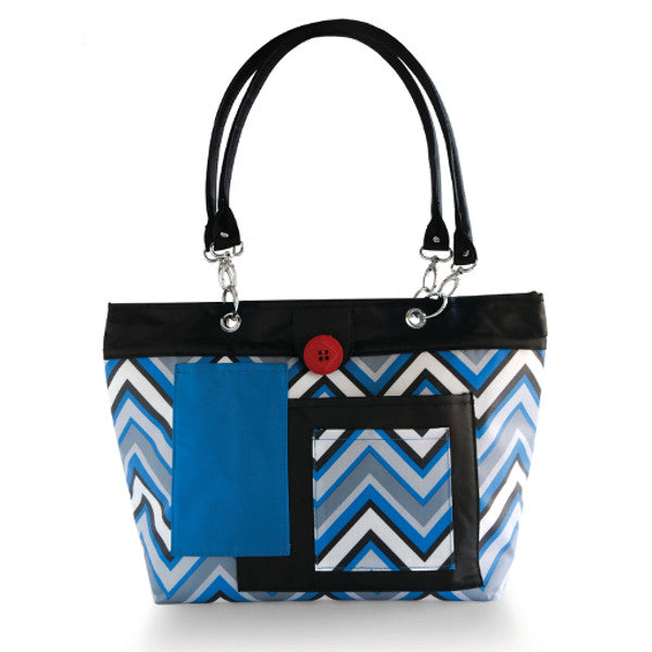 2 Red Hens Rooster Diaper Bag - Chevron Stripes